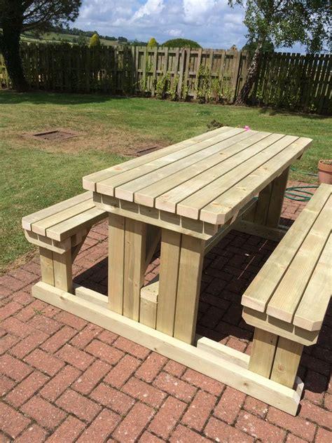heavy duty wooden walk  gardenpub picnic table