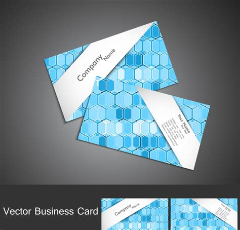 Circle Business Card Template Illustrator by Abstract Blue Colorful Circle Business Card Set Vector