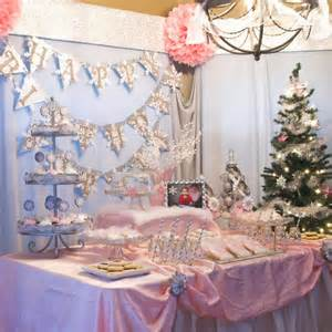 Winter Onederland Birthday Decorations - snowflake 1st birthday party pizzazzerie