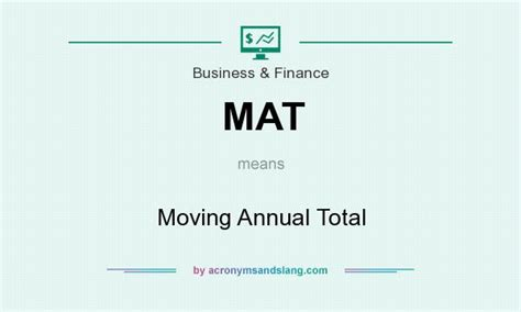 Finance Mat by Mat Moving Annual Total In Business Finance By