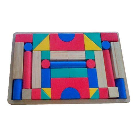 jual mainan edukatif mainan balok kayu balok bangun