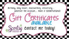 1000 Images About Scentsy Gift Certificates On Pinterest Gift Certificates Printable Gift Scentsy Gift Certificate Template