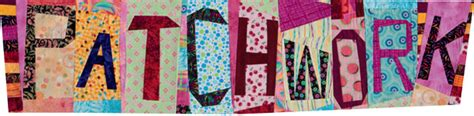 Patchwork Letters - how to make a wonky quilt block stitch this the