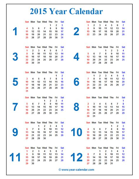 free printable yearly calendar 2015 uk calendars