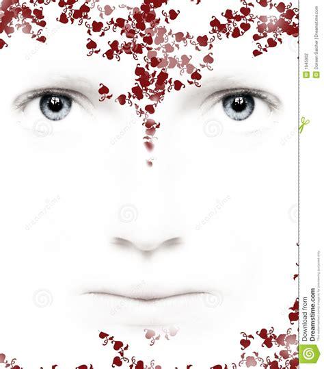 imagenes de ojos con flores corazones y flores de los ojos fotograf 237 a de archivo