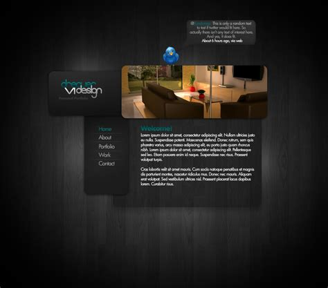 Portfolio Website Template By Dreaverr On Deviantart Portfolio Website Html Template