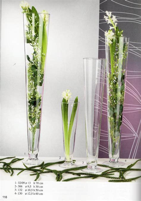 vasi in vetro per fiori composizioni floreali in vasi di vetro alti vs42