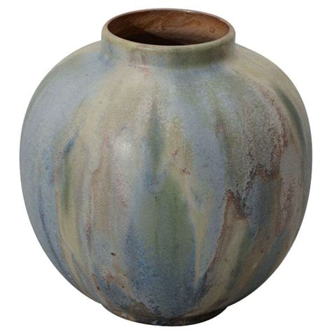 Gray Vases by Mottled Blue Gray Vase At 1stdibs