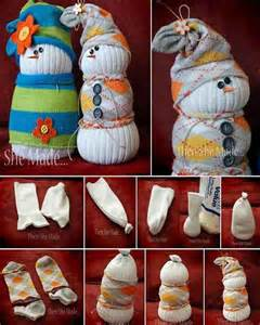 Snowmen sock