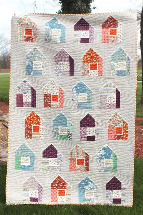 Modern Patchwork Quilt Patterns - neighborhood quilt by in the garden project