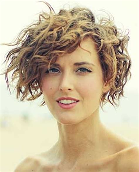 curly hairstyles on relaxed hair asymmetrical short curly hair styles 2018 2019 short bob