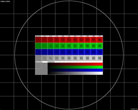 test pattern apres midi dell ultrasharp blurred