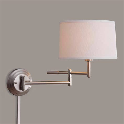 swing arm wall sconce brushed steel dickson swing arm wall sconce world market