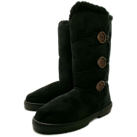 black winter boots buy itzel flat fur winter boots black suede style