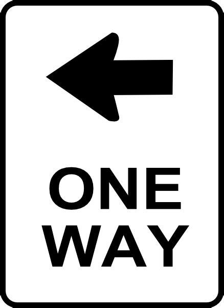printable one way road sign one way traffic sign clip art at clker com vector clip