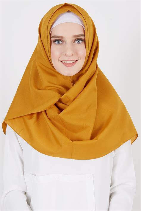 Cuci Gudang Glam Jilbab Instan sell pasmina instan nihara mustard instant hijabenka