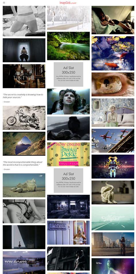wordpress themes photo grid responsive image grid wordpress theme