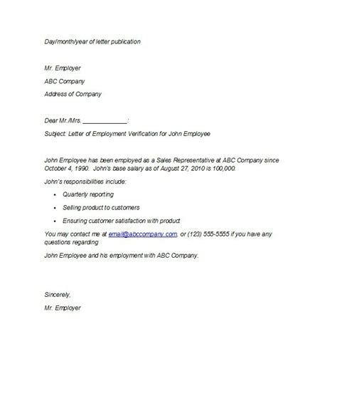 Proof Of Employment Letter For Employment Letter With Salary Sle Www Pixshark Images Galleries With A Bite