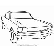 Ford Mustang Clasico Dibujo  Imagui