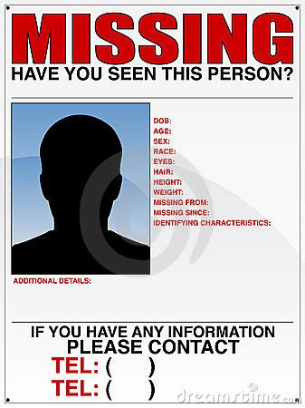 missing person ad template 10 missing person poster templates excel pdf formats