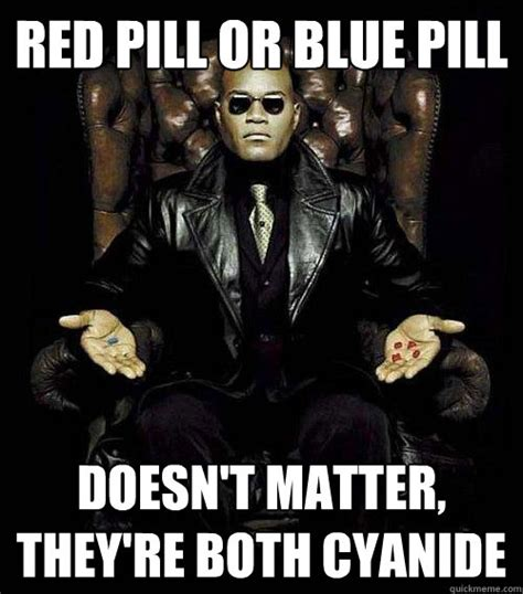 Blue Pill Red Pill Meme - you can cook or make me a sandwich it s your choice