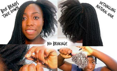 after braid removal hairstyle for black hair box braids take down and wash detangling natural hair how