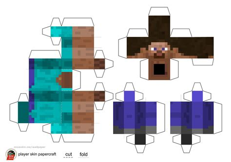 Minecraft Steve Papercraft Template - steve minecraft papercraft search results calendar 2015