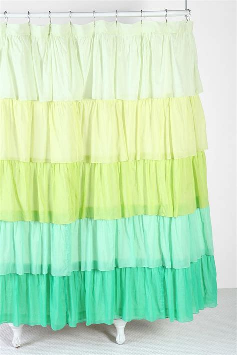 urban outfitters ruffle shower curtain 121 best images about bathroom curtains on pinterest