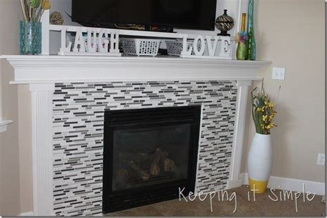 Fire Place Makeover With Mosaic Tiles #DIY #Tiling   Hometalk