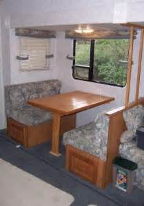 Rv Dining Table Bed Creating An Rv Desk Out Of An Rv Dinette