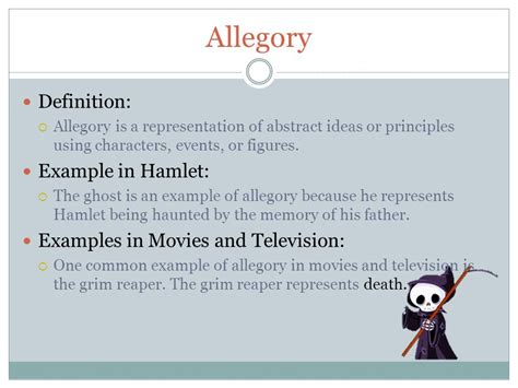 exle of allegory literary terms by hertel ppt
