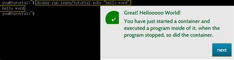 docker tutorial hello world 在docker容器中运行hello world docker中文入门学习手册 教程 169it com
