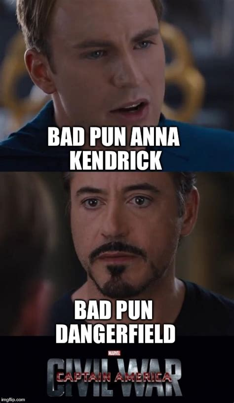 Bad Pun Meme - marvel civil war meme imgflip