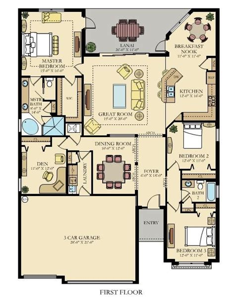 princeton floor plans the princeton new home plan in gran paradiso manor homes