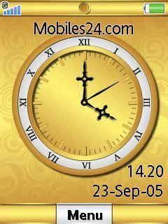 themes swf clock swf gold clock free sony ericsson w595 theme download