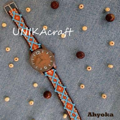 Jam Tangan Cat Tali Coklat jam tangan jam macrame makrame tali jam macrame