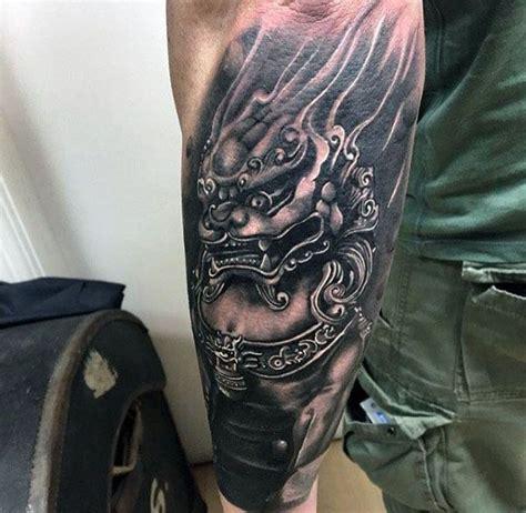 foo dog tattoo designs fuer maenner chinesische