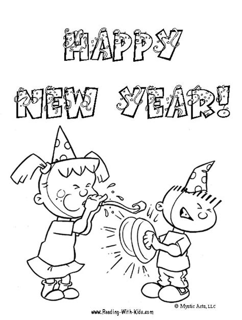 free coloring page happy new year new year s eve