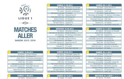 Calendrier Foot Ligue 1 Tunisie 2014 Football Ligue 1 Calendrier Football Ligue 1 Calendrier