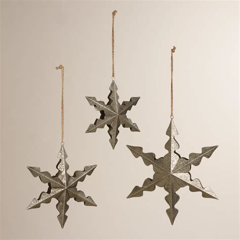 hanging metal snowflakes world market