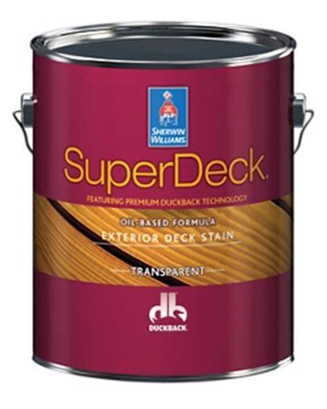 superdeck exterior oil based transparent stain