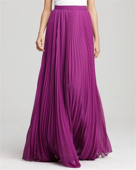 pleated chiffon maxi skirt dress ala