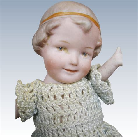 bisque doll molded hair antique all bisque coquette doll with molded hair and