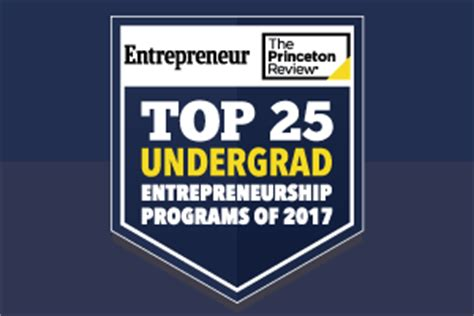 Princeton Review Top 25 Mba Programs by Top Schools For Entrepreneurship 2017 College Rankings