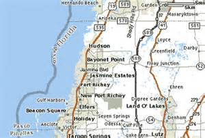 pasco county map ta bay florida