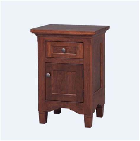 small night table amish lexington 1 door small night stand