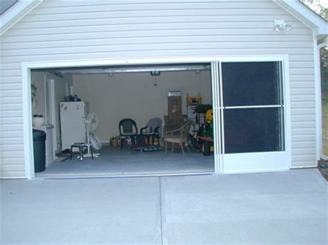 Screen For Garage Door Opening by Garage Screens