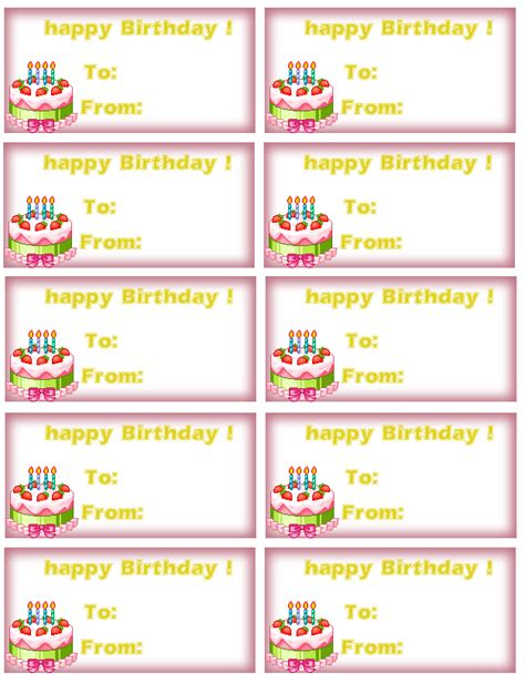 printable birthday gift tags templates 7 best images of printable tags birthday cake birthday