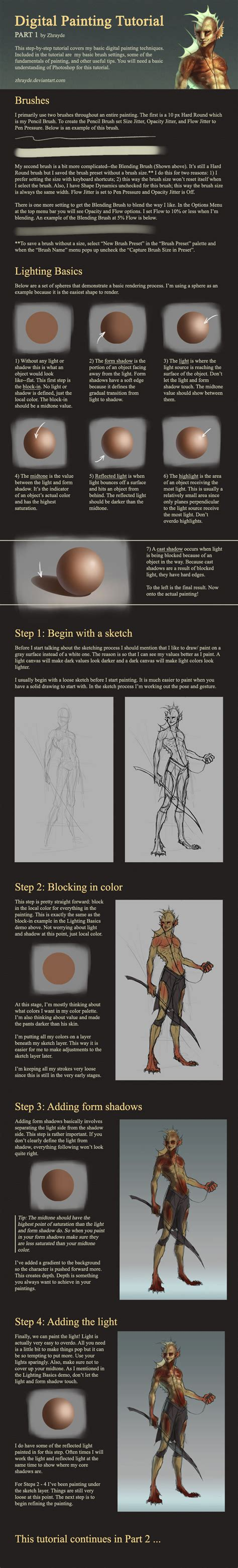 watercolor tutorial part 1 digital painting tutorial part 1 by zhrayde on deviantart
