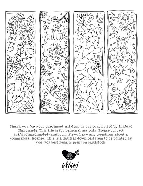 school doodle colouring bookmarks floral coloring bookmarks digital download adult